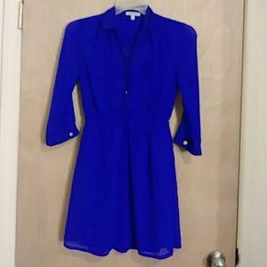 Blue or purple dress